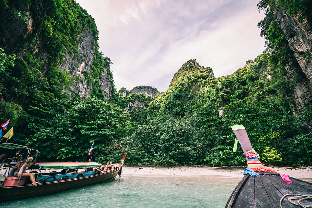 One of the cheapest places to visit Phi Islands in Thailand