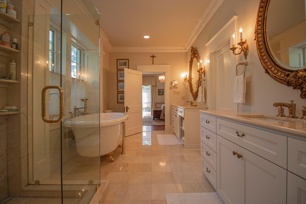 modern bathroom with electrical extras