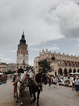 Old Town Square of Krakow Poland