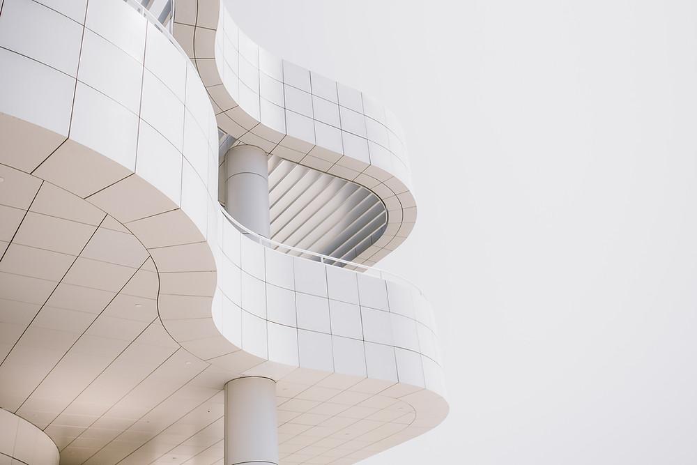 White Curvy Building