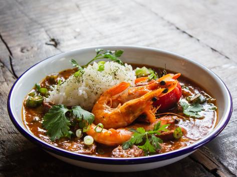 Curry de crevettes aux cacahuètes