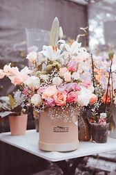 Blumendeko rosa