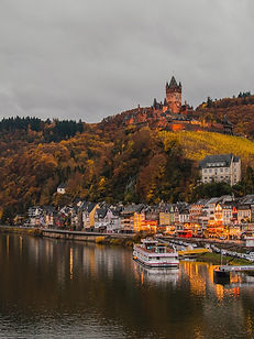 The picturesque Moselle valley is at the heart of a famous wine-producing area in Germany.  The region is home to the country's oldest town and a rick Roman and medieval history.  An abundance of castles stand guard over pretty towns in a valley that offers relaxed cycling and an array of activities, historical sites and cultural traditions.