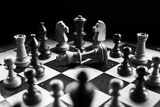Chessboard representing strategic planning