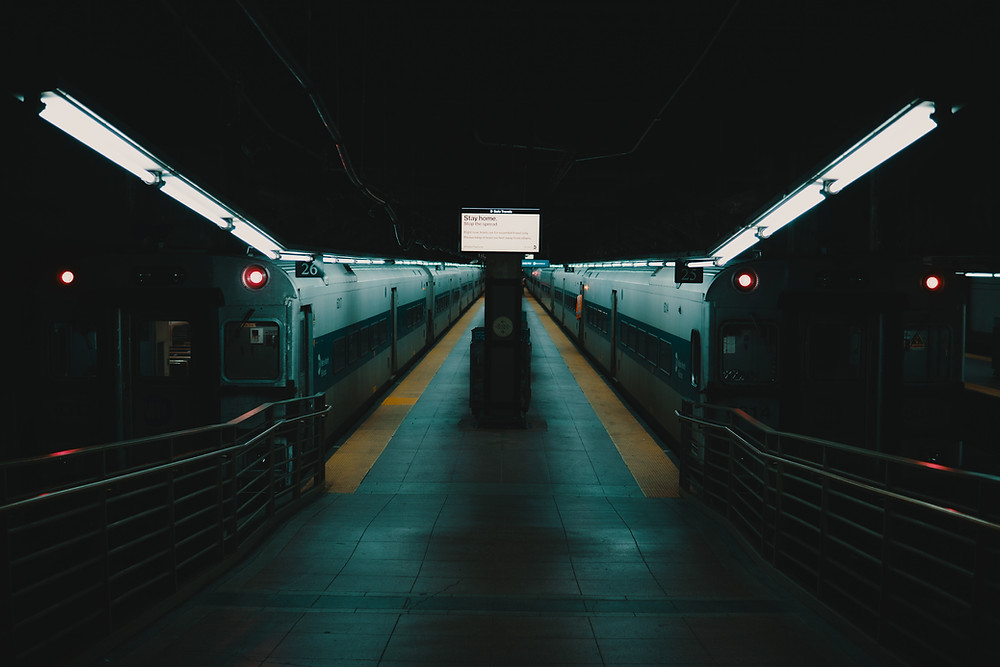 Empty tracks in New York. The state has emerged as the epicenter of the COVID-19 outbreak in the United States. Photo provided by Unsplash.