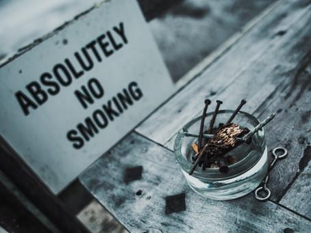 No smoking during lockdown