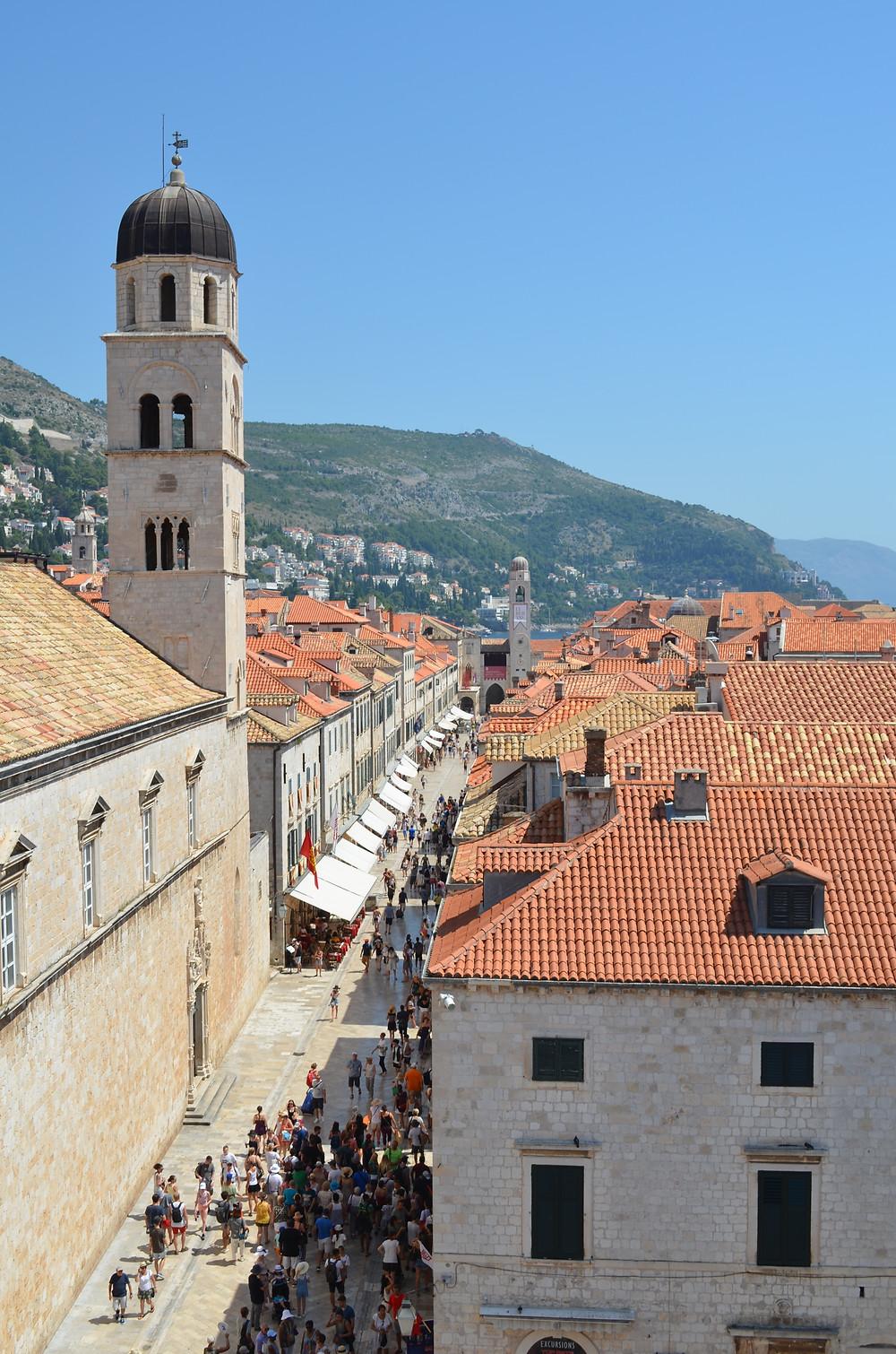 Stradun, also known as Placa, in Dubrovnik