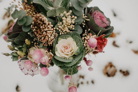 Pink and white funeral flowers