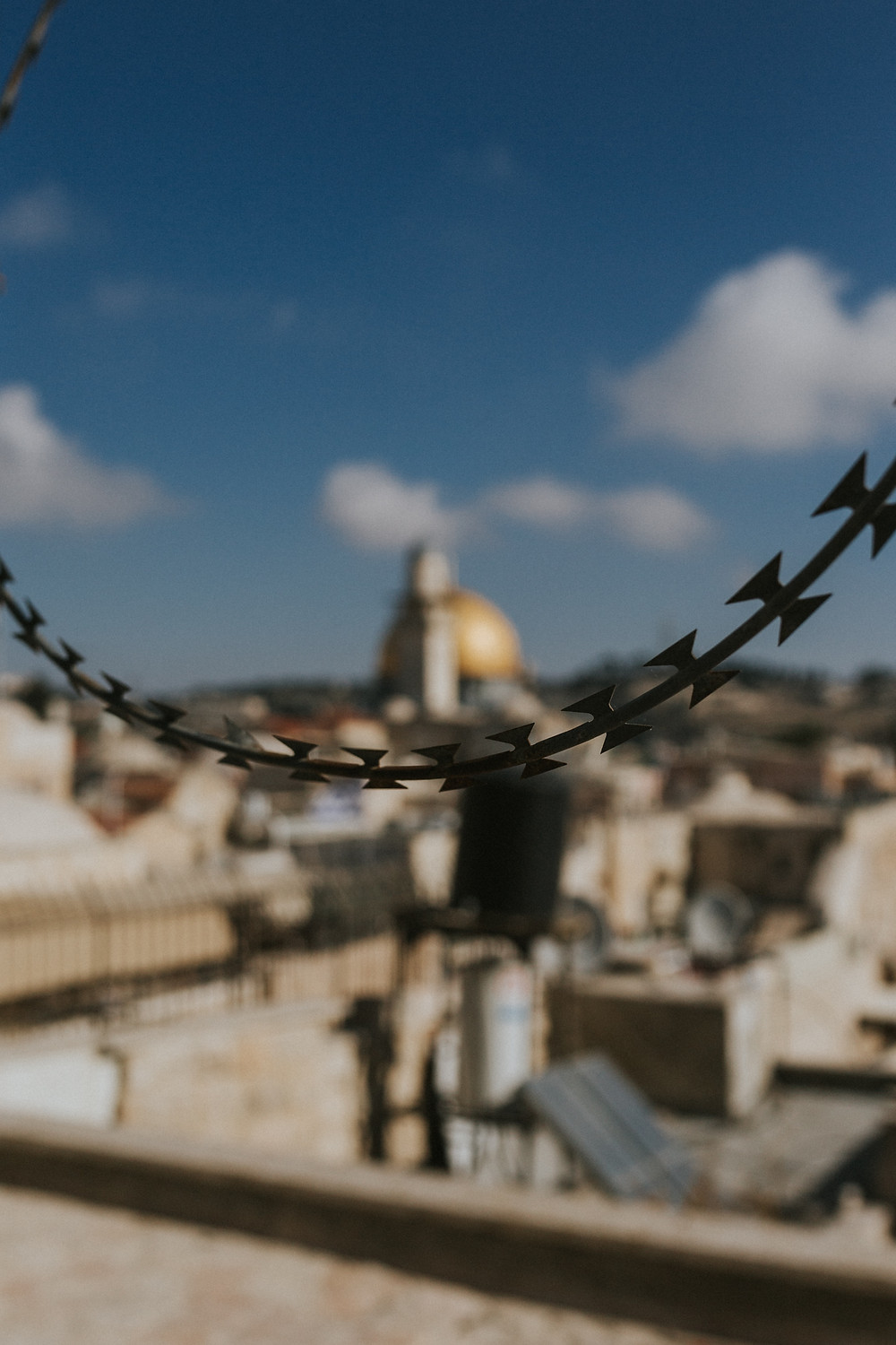 barbed fence in Israel