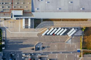 aerial photo of logistics center