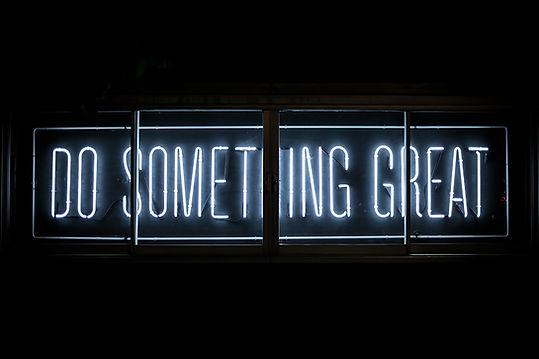 Do Something Great LED-Schild