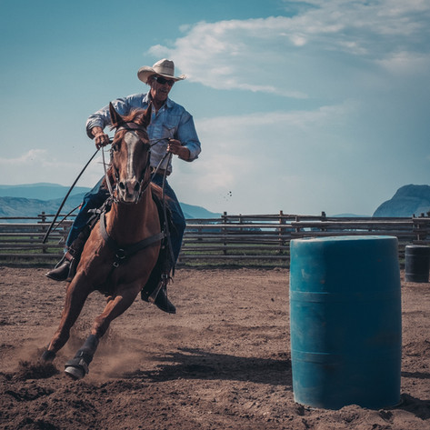 Utah Cowboy Barrel Racing