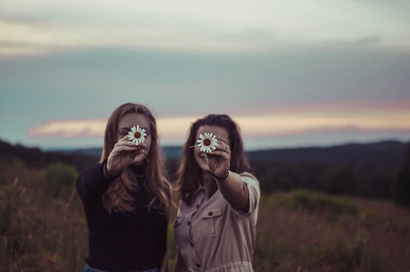 women, flowers, nature, together, circles, growing, standing, rooting