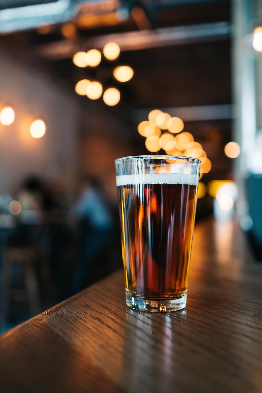 Pint glass gay beer