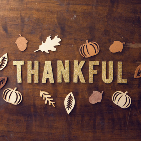 Holiday Message: Thankful for God's Grace and Many Blessings