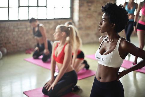 Students in Kind Karma Yoga Class