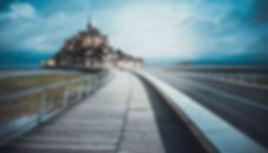 pont passarelle Mont Sant michel