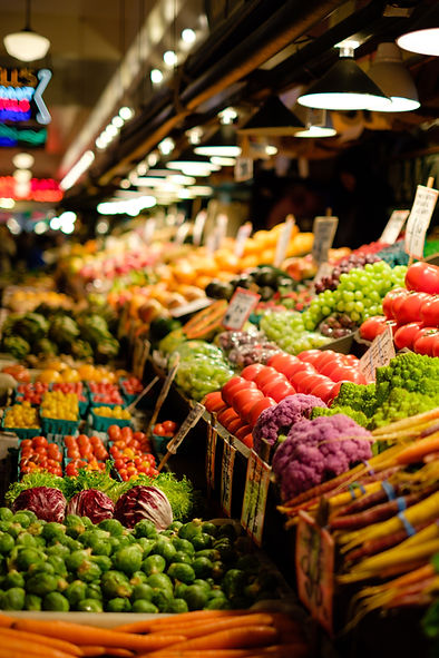 a wide variety of produce