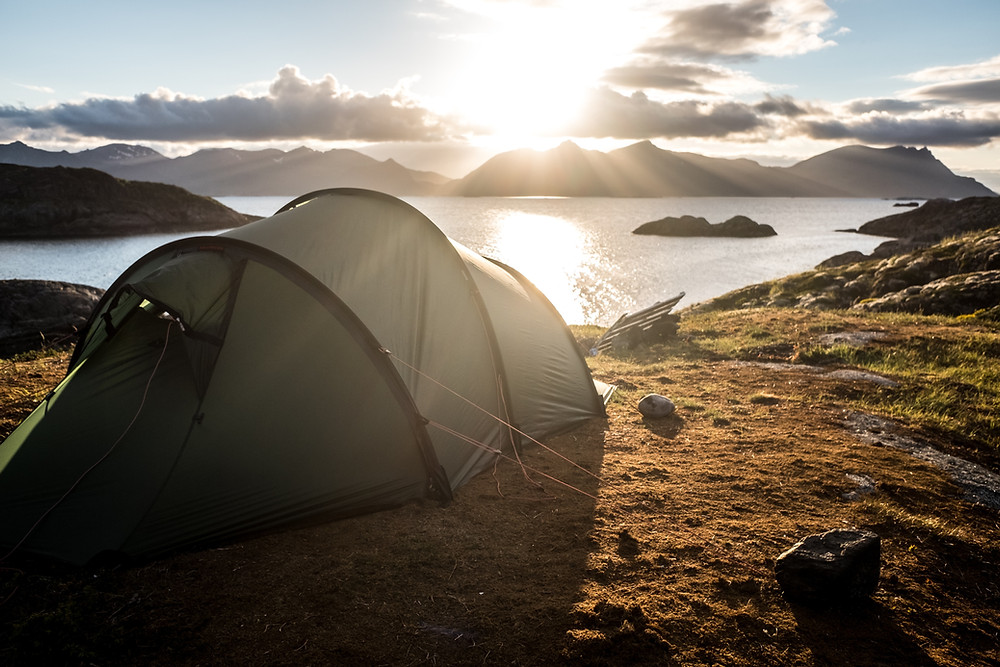 Camping in Norway is a travel bucket list idea for 2021