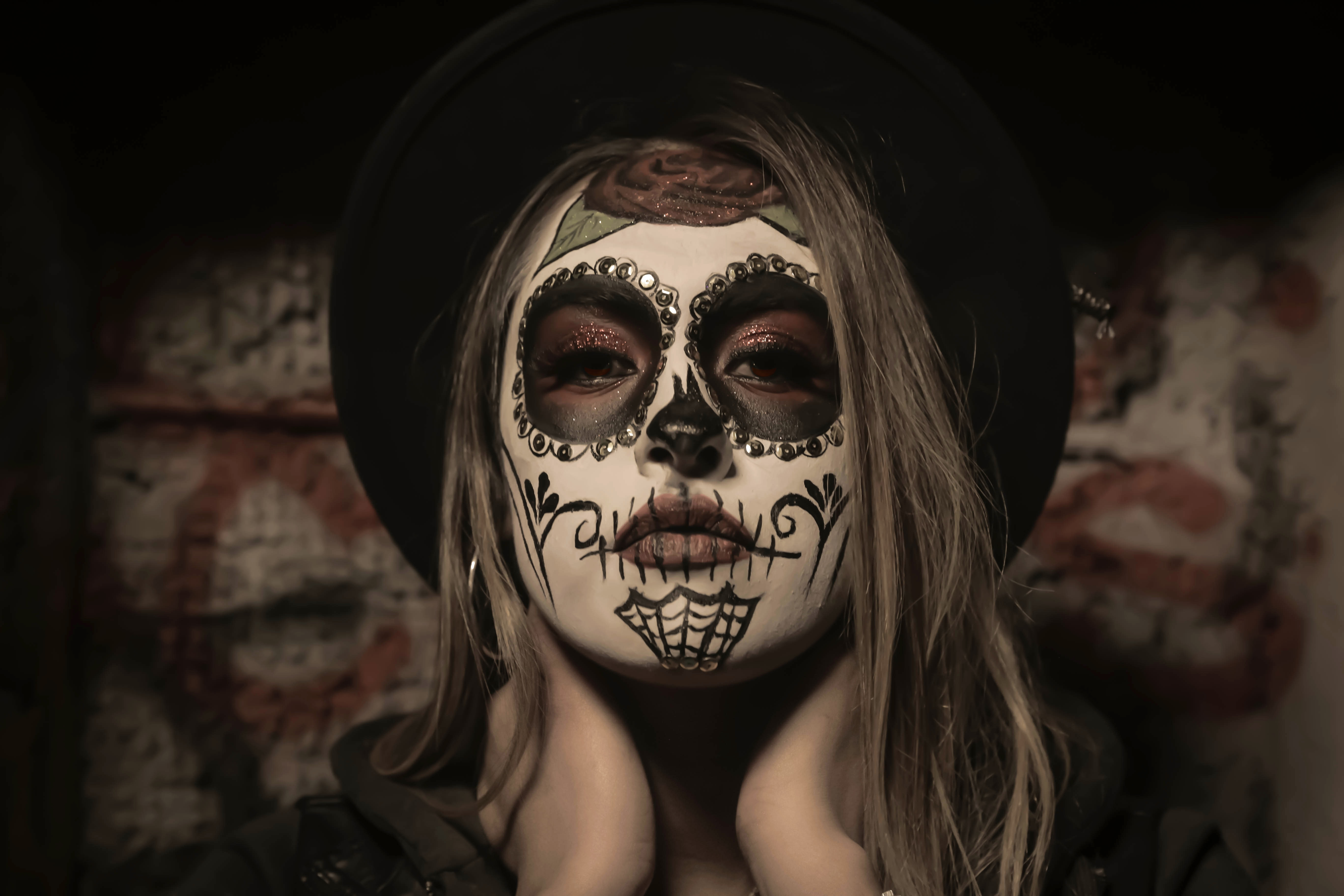 Calaveras Make-up/ Sugar Skull Make-up/ Mexican Skull Make-up/ Dia de los Muertos Make-up