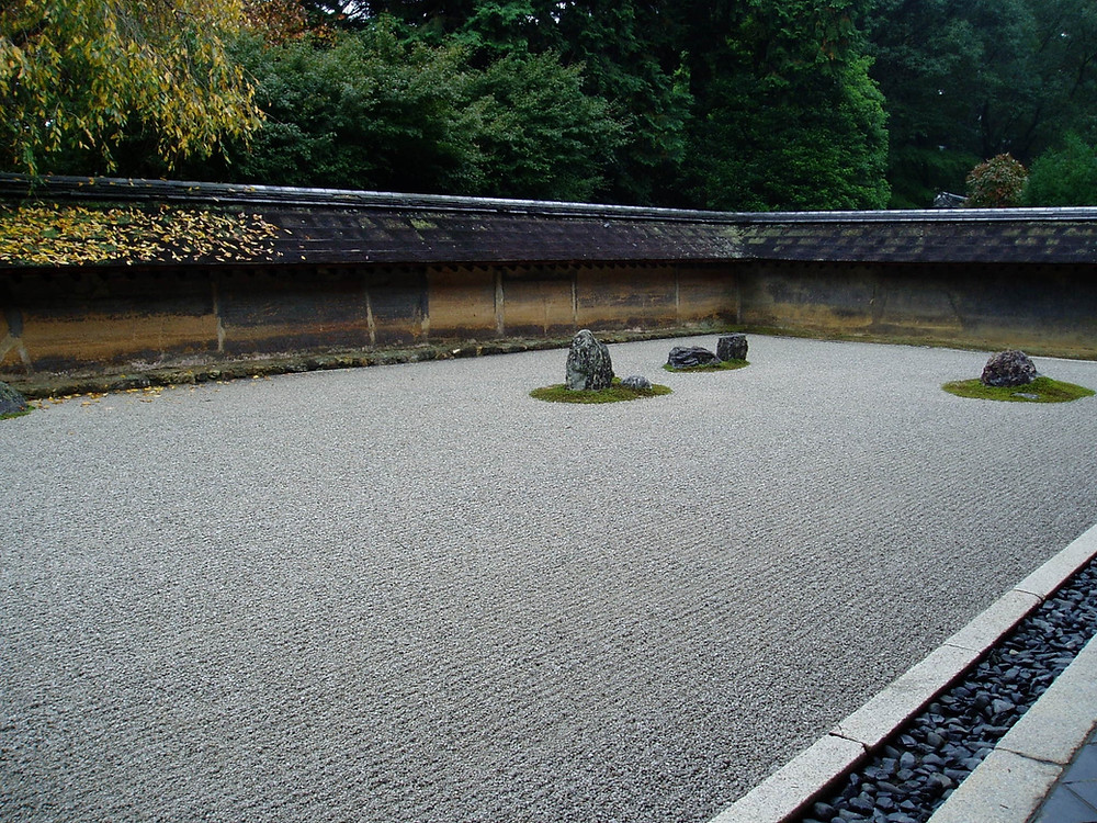 The symbolic of the sand stone Garden