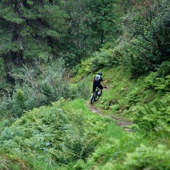 Mountain biking on the kitzsteinhorn