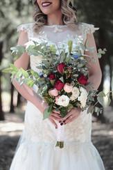 Loose bridal bouquet