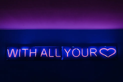 With all your Love LED-Schild