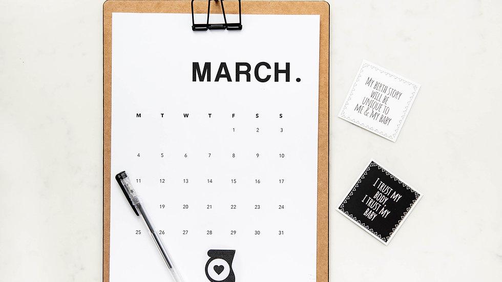 Eintrag im Eventkalender