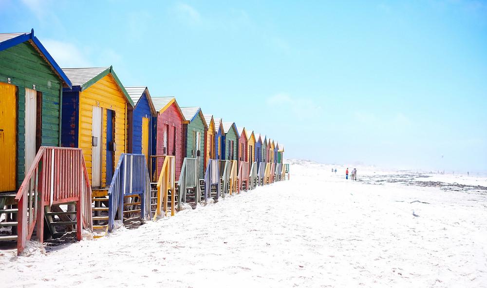 Casas coloridas Muizenberg Beach Cape Town