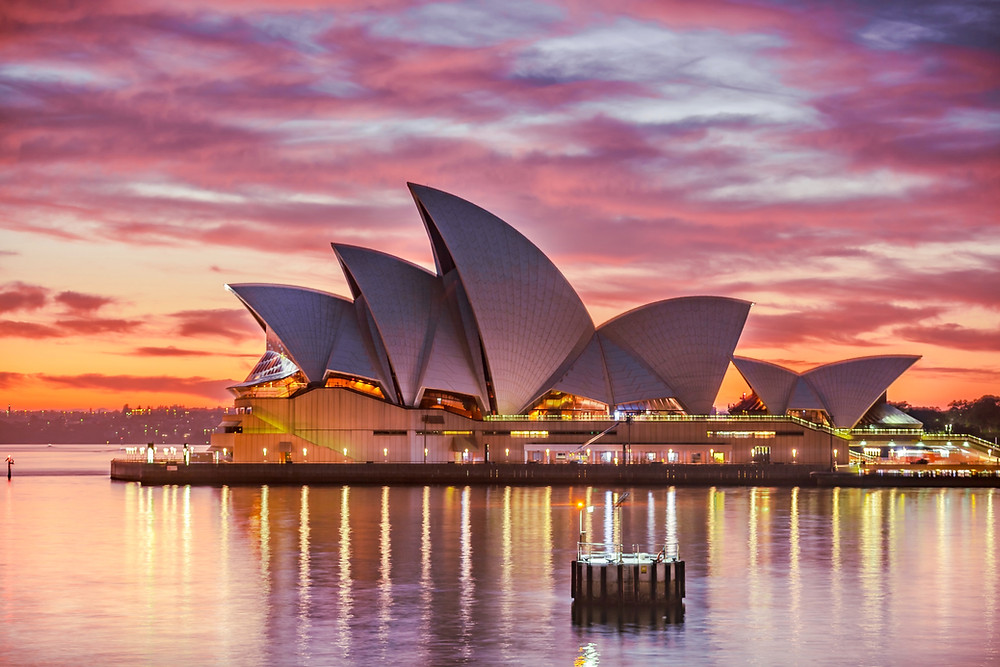 Дом оперы, Сидней. Тур в Австралию и Новую Зеландию.