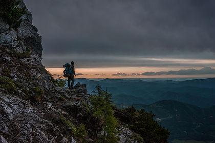 Hombre en la montaña