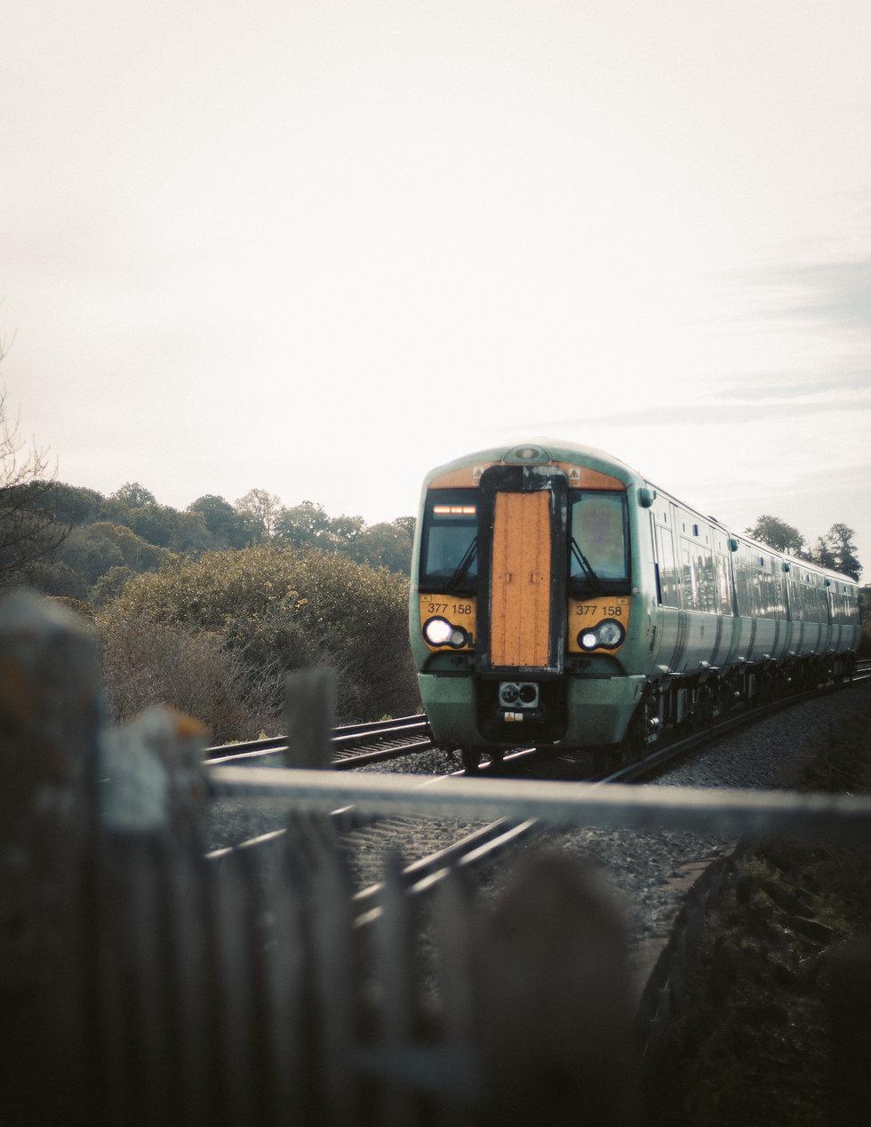 rail train in motion