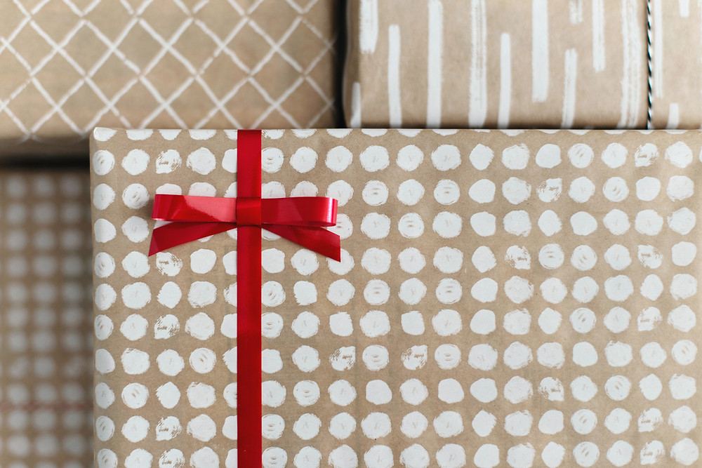 wrapped gifts at Ash Street Housing Cooperative