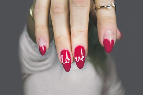Nail Tips With Acrylic Overlay