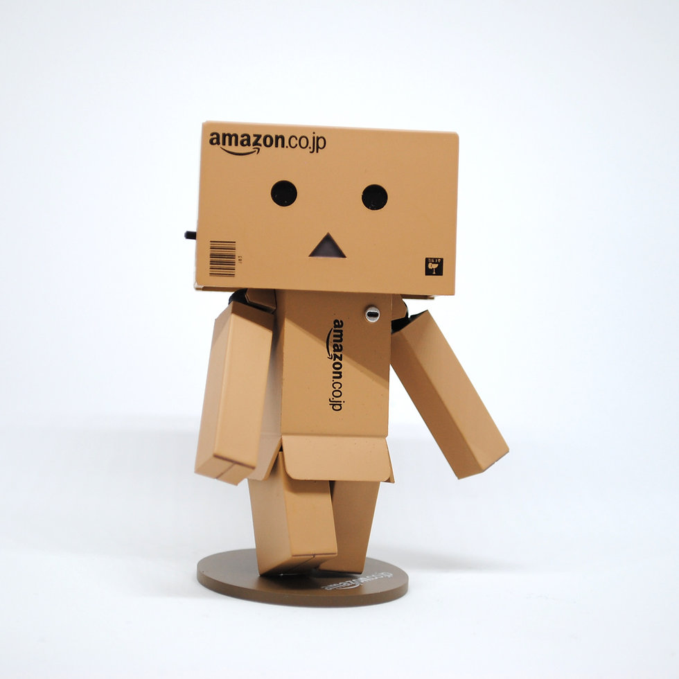Amazon character out of boxes
