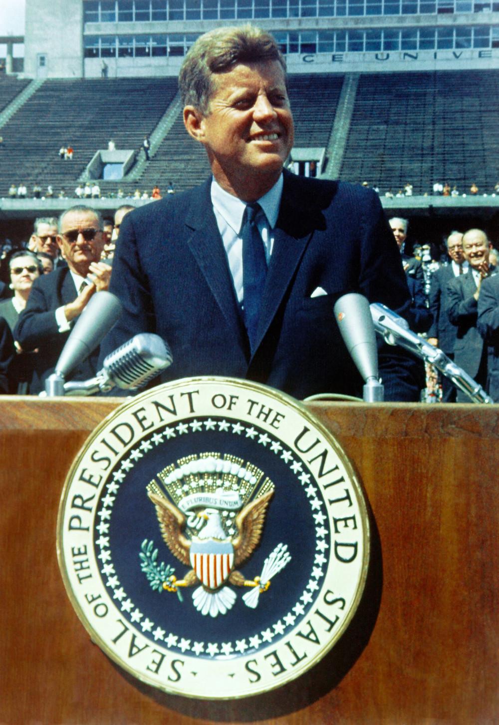 JFK smiling
