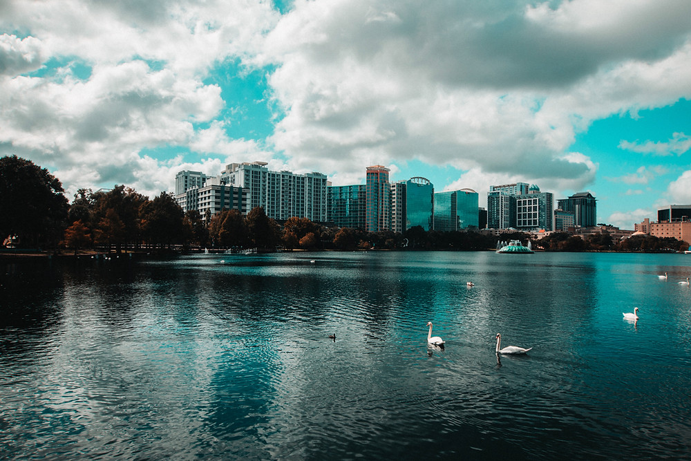 A beautiful View Of Orlando, Florida. The United States (USA).