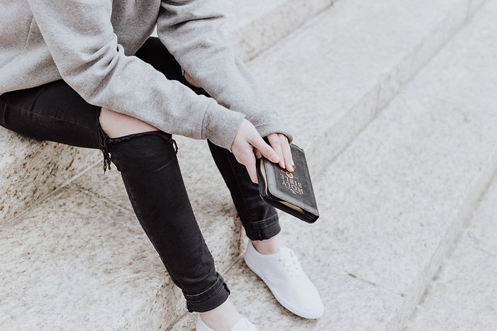 Person Holding a Bible Image by Priscilla Du Preez