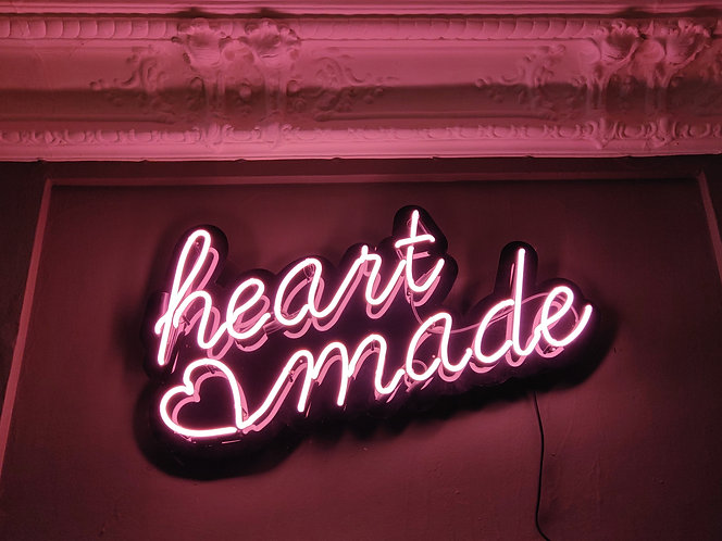 Heart Made Neon Sign