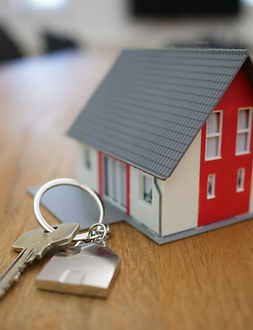 The keys to a brand new house.