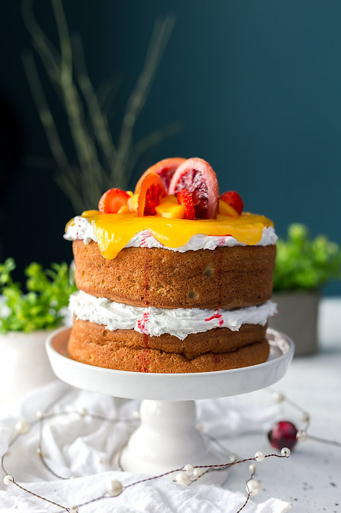 Mango Fresh Fruit Cake ( Rs 1500 /Kg, Minimum Order 1 Kg)