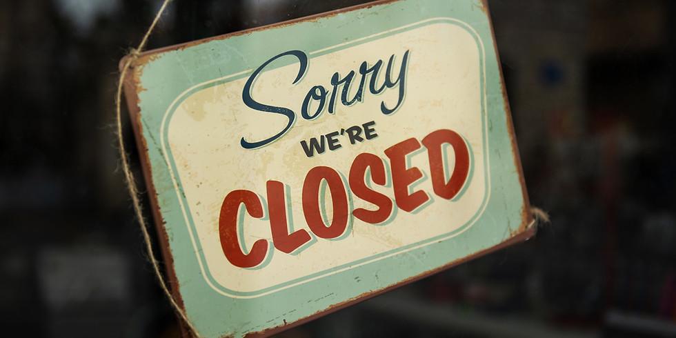 Jaarlijkse sluiting tijdens de feestdagen