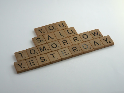 day 7 everyday positivity challenge - Procrastinate or Just do it!