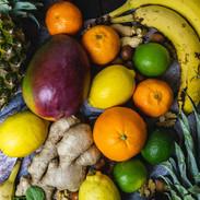 FRUTAS, GENGIBRE - FRUITS, GINGER
