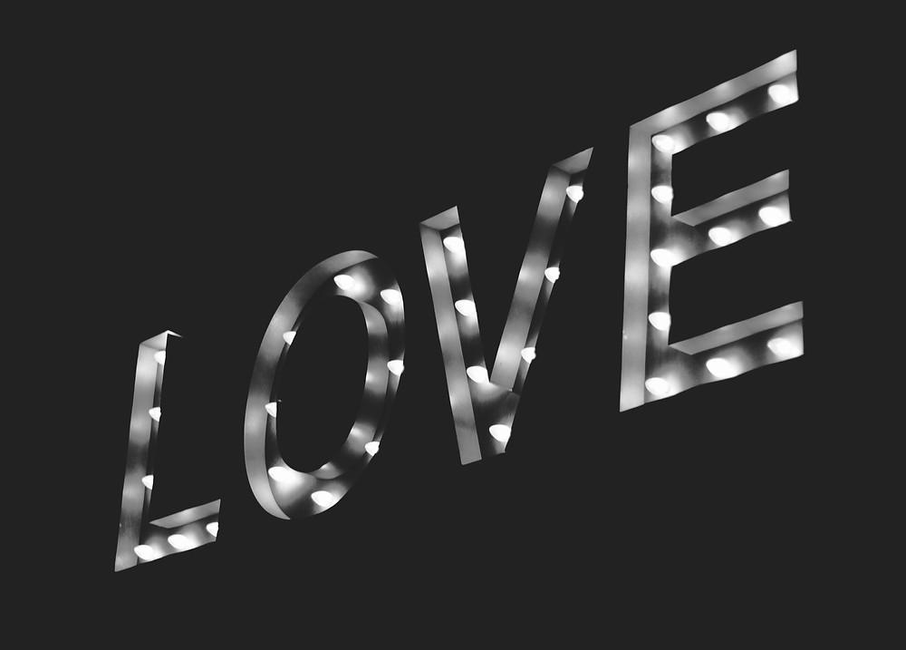 Love written in lights.