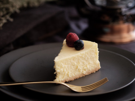 Eating My Humble Cheesecake