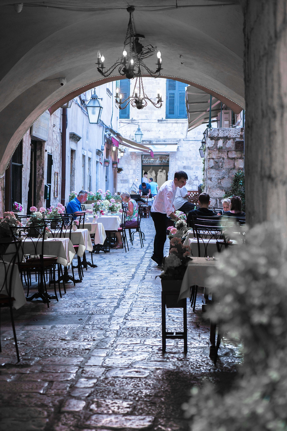 Cafes and restaurants in Dubrovnik's Old Town