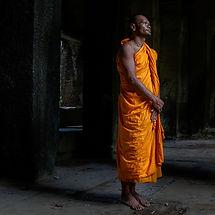 moine cambodge temple