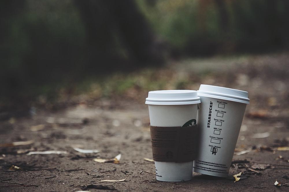 Image of two Starbucks coffee cups - Pleasanton estate planning attorney